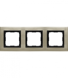 METAL Ramka 3x Seria VENA2 Metal, NOWE SREBRO 5280283