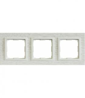 Ramka 3x Seria VENA2 Natural, DĄB BIELONY + biały 5221383