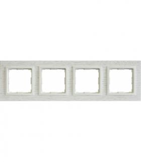 Ramka 4x Seria VENA2 Natural, DĄB BIELONY + biały 5221384
