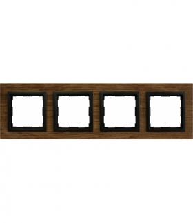 Ramka 4x Seria VENA2 Natural, STARY DĄB + antracyt 5225384