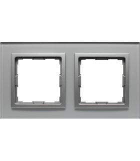 Ramka 2x Seria VENA2, ALUMINIUM + aluminum 5240182