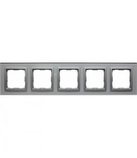 Ramka 5x Seria VENA2, ALUMINIUM + aluminum 5240185