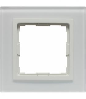 Ramka 1x Seria VENA2 Xglass, BIAŁY + biały 5204181