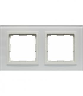 Ramka 2x Seria VENA2 Xglass, BIAŁY + biały 5204182