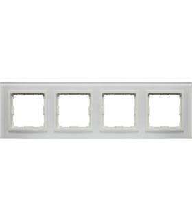 Ramka 4x Seria VENA2 Xglass, BIAŁY + biały 5204184