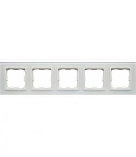 Ramka 5x Seria VENA2 Xglass, BIAŁY + biały 5204185
