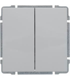 Przycisk podwójny z klawiszem, bez ramki, Seria KOS 66, BIAŁY 660420