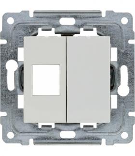 Pokrywa gniazda komputerowego do Keystone 22,5x45mm Seria DANTE, BIAŁY 4504801