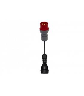 Reduktor wtyczka siłowa 16/5 + OW 3x1,5mm2 0,25m + gniazdo gumowe F7.0124