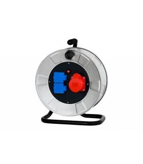 Rozgałęźnik siłowy na bębnie metalowym 16A 5p, 2x230V 14300-2