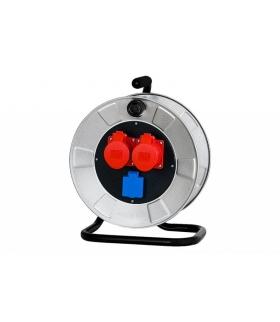 Rozgałęźnik siłowy na bębnie metalowym 2x16A 5p, 230V 14300-3