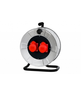 Rozgałęźnik siłowy na bębnie metalowym 2x32A 5p 14300-6