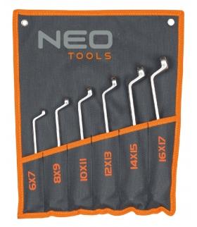 Zestaw kluczy oczkowych odgiętych - NEO Tools 09-950