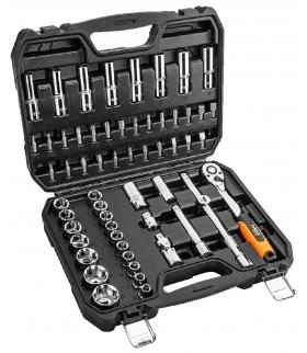 """Zestaw kluczy nasadowych 58 elementów 1/2"""" - NEO Tools 08-663"""