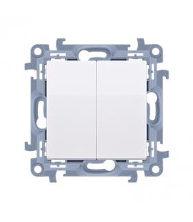 Łącznik schodowy podwójny bez piktogramu biały 10AX CW6/2.01/X/11