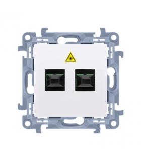 Gniazdo światłowodowe / optyczne podwójne biały CGS2.01/11