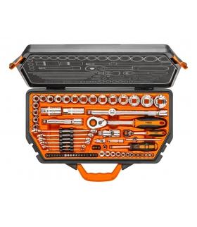 """Zestaw kluczy nasadowych 71 elementów 1/4"""" 1/2"""" - NEO Tools 08-635"""