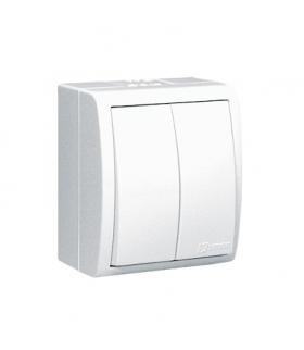 Łącznik schodowy podwójny bryzgoszczelny biały 10AX AQW6/2/X/11