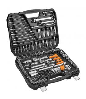 """Zestaw kluczy nasadowych 156 elementów 1/4"""" 1/2"""" 3/8"""" - NEO Tools 08-668"""