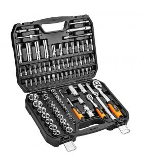"""Zestaw kluczy nasadowych 94 elementy 1/4"""" 1/2"""" - NEO Tools 08-665"""