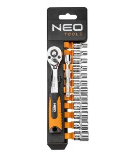 """Zestaw kluczy nasadowych 14 elementów 1/4"""" - NEO Tools 08-652"""
