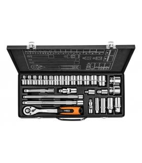 """Zestaw kluczy nasadowych 28 elementów 1/4"""" 1/2 - NEO Tools 08-677"""