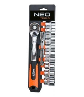 """Zestaw kluczy nasadowych 12 elementów 1/2"""" - NEO Tools 08-654"""