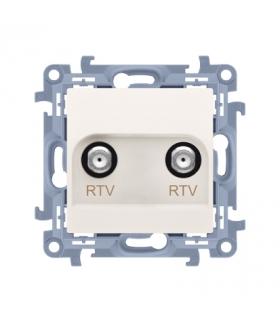 Gniazdo antenowe RTV-RTV końcowe kremowy CAK2F.01/41