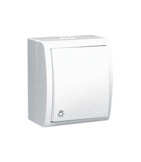 """Przycisk """"światło"""" bryzgoszczelny biały 10AX AQS1/11"""