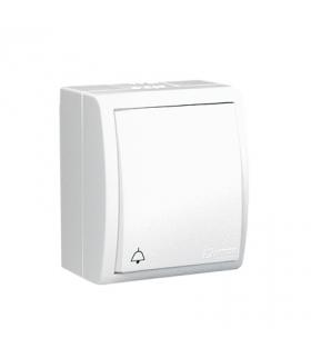 """Przycisk """"dzwonek"""" z podświetleniem bryzgoszczelny biały 10AX AQD1L/11"""