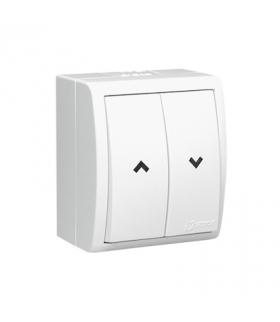 Przycisk żaluzjowy bryzgoszczelny biały 0AX 10A AQZ1/11