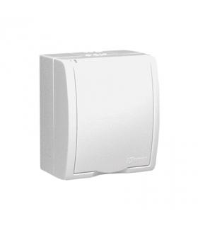 Gniazdo wtyczkowe pojedyncze z uziemieniem w wersji IP54 klapka w kolorze białym biały 16A AQGZ1/11