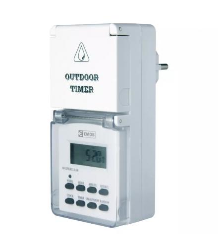 Cyfrowy programator czasowy IP44 zewnętrzny EMOS P5507