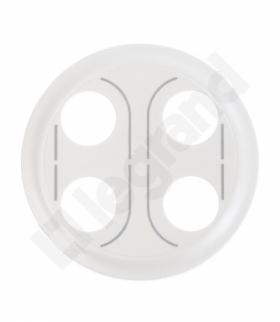 CELIANE Plakietka gniazda głośnikowego bananowego podwójnego biała Legrand 068232