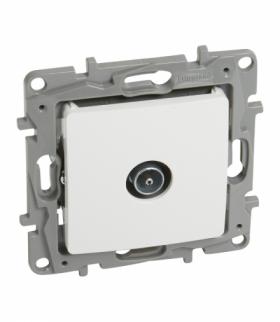 Niloe/Niloe Selection - Gniazdo TV - 9.5 męskie końcowe do instalacji typu gwiazda 1 dB - Biały Legrand 764551