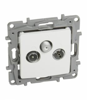 Niloe/Niloe Selection - Gniazdo TV-RD-SAT końcowe do instalacji typu gwiazda 1,5 dB - Biały Legrand 764563