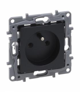 Niloe Selection Gniazdo 2P+Z 16 A 250 V (bez przesłony, zaciski śrubowe) Antracyt Legrand 762240