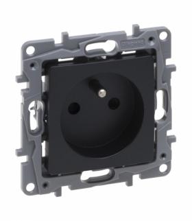 Niloe Selection Gniazdo 2P+Z 16 A 250 V (z przesłoną, zaciski automatyczne) Antracyt Legrand 762225