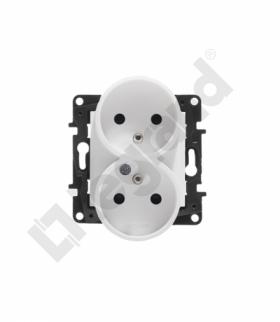Niloe Step Gniazdo 2x2P+Z 16 A - 230 V - z przesłoną, zaciski śrubowe - Białe Legrand 863134