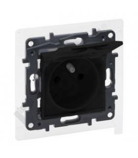 Niloe Step Gniazdo 2P+Z - IP44 16 A - 230 V - z przesłoną, zaciski automatyczne - Czarne Legrand 863536