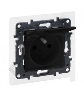 Niloe Step Gniazdo 2P+Z - IP44 16 A - 230 V - bez przesłony, zaciski śrubowe - Czarne Legrand 863535