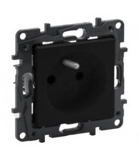 Niloe Step Gniazdo 2P+Z 16 A - 230 V - z przesłoną, zaciski automatyczne - Czarne Legrand 863533