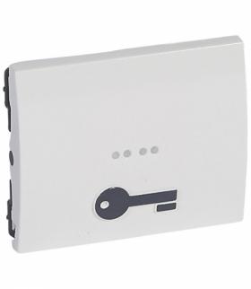 SISTENA LIFE Klawisz ARCTIC z symbolem klucza do mechanizmów podświetlanych Legrand 771011