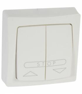OTEO Przycisk sterowania roletami (blokada elektryczna) BIAŁY komplet 6A-250V Legrand 086010