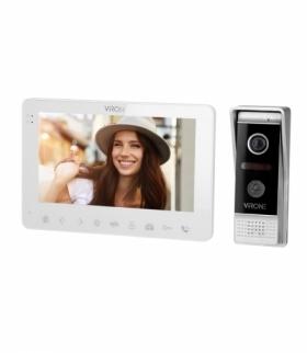 """Zestaw wideodomofonowy, bezsłuchawkowy, kolor, LCD 7"""", menu OSD, WI-FI + APP na telefon, sterowanie bramą, biały, VIFAR Orno VDP"""