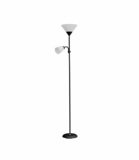 Lampa stojąca podłogowa URLAR, 175 cm, max 25W E27, max 25W E14, czarna Orno LS-2/B