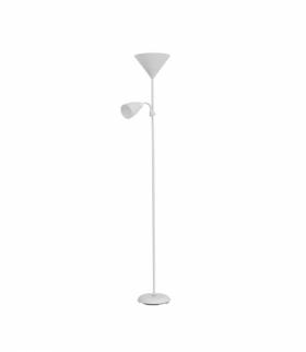 Lampa stojąca podłogowa URLAR, 175 cm, max 25W E27, max 25W E14, biała Orno LS-2/W