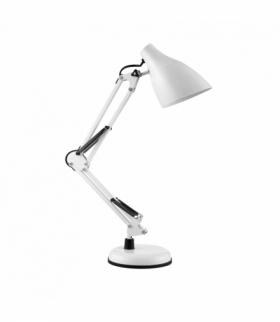 DIAN lampa biurkowa. 60W stalowa, biała Orno DL-1/W