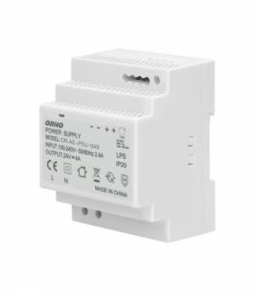Zasilacz na szynę DIN 24VDC, 4A, 100W, szerokość 4 moduły Orno OR-PSU-1649