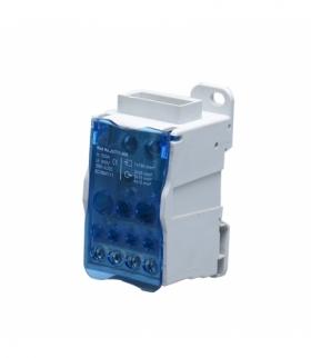 Blok rozdzielczy 500A, zacisk wejściowy szyna 8x24x1, zaciski wyjściowe 4x10 i 5x16 i 2x25mm² Orno OR-LZ-8200/500